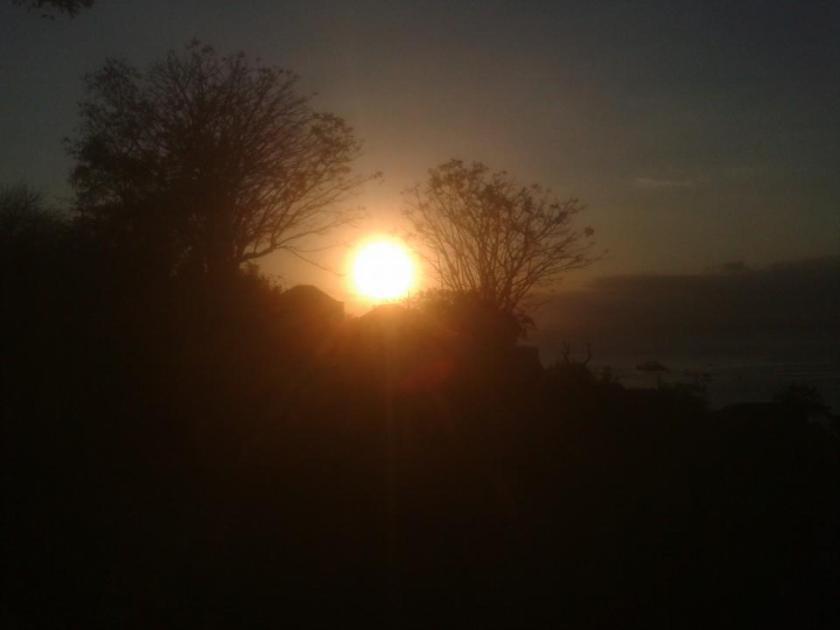 sunset Nusa lembongan