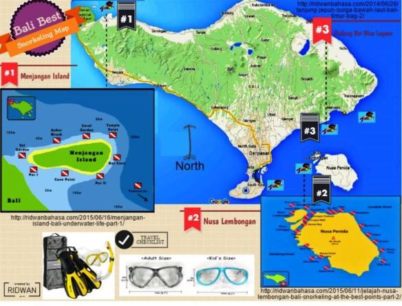 Bali Snorkeling Map